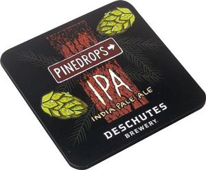 Beer Logo Wooden Coaster: Pinedrops IPA