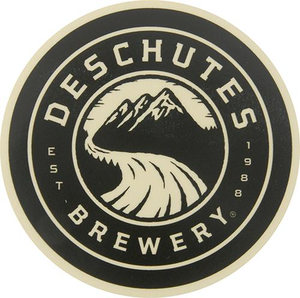 "Deschutes Brewery 3"" Sticker - Circle Logo"