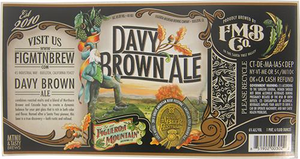 Davy Brown Ale Bottle Label