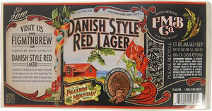 Danish Red Bottle Label