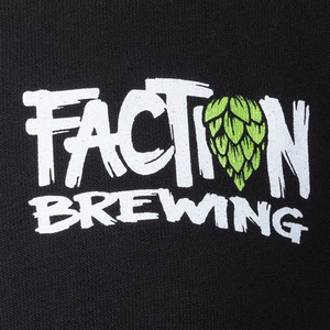 Faction Brewing Logo Zip Hoodie