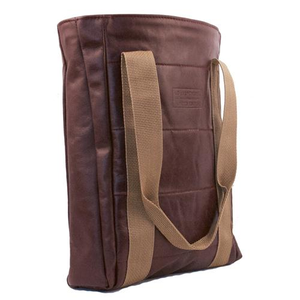 Horizon Air Recycled Seat Leather Carry All Tote -Historical Logo