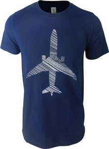 Unisex T-Shirt Short Sleeve Windswept Plane