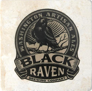 Black Raven Coaster Set w/ Stand
