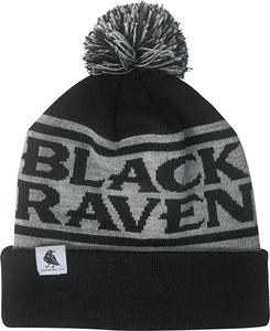 Black Raven Pom Beanie