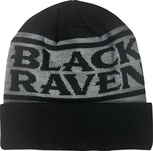 Black Raven Cuff Beanie