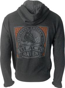 Black Raven Zip Hoody