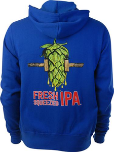 Beer Logo Zip Hoody: Fresh Squeezed IPA