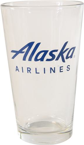Alaska Airlines Pint Glass 16 oz