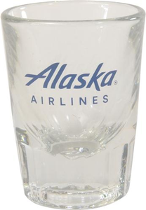 Alaska Airlines Shot Glass 2 oz