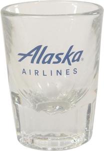 Alaska Airlines Shot Glass 2 oz