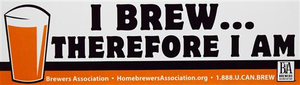 I Brew Therefore I Am Bumper Sticker