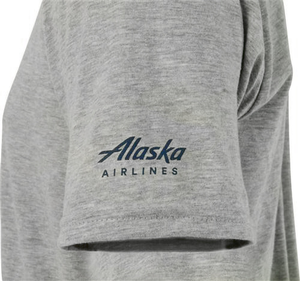 Unisex T Shirt Alaska Airlines Aura Plane Apparel
