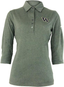 Women's Cutter and Buck DryTec™ 3/4 Sleeve Polo- University of Washington