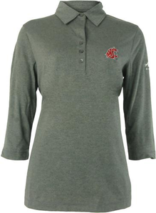 Women's Cutter and Buck DryTec™ 3/4 Sleeve Polo-Washington State University