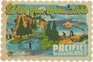 Beer Logo Postcard: Pacific Wonderland
