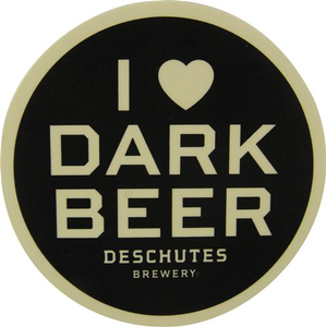"Deschutes Brewery 3"" Sticker - I Love Dark Beer"