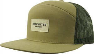 Deschutes Brewery Snapback Label Hat - Flat Bill