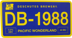 "Beer Logo 5"" x 2.5"" Sticker: Pacific Wonderland"