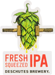 "Beer Logo 3"" x 4.1"" Sticker: Fresh Squeezed IPA"