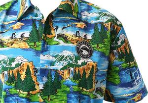 Beer Logo Hawaiian Shirt: Pacific Wonderland