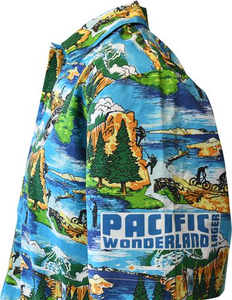 Beer Logo Hawaiian Shirt: Pacific Wonderland