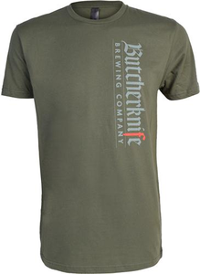 Butcherknife Brewing Vertical Logo Short Sleeve Tee