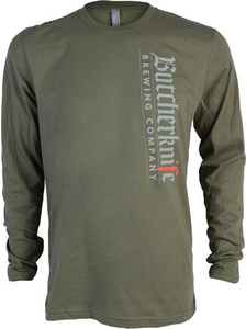 Butcherknife Brewing Vertical Logo Long Sleeve Tee