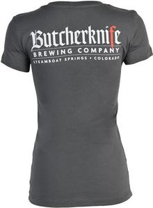 Ladies Butcherknife Brewing V Neck Tee