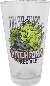 Pitchfork Pint Glass