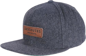 Deschutes Brewery Wool Snapback Leather Patch Hat