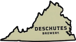 "Deschutes Brewery 4.4"" x 2.3"" Sticker - VA State"