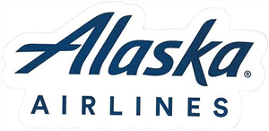 Alaska Airlines Logo Sticker