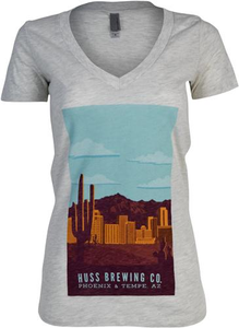 Women's Vintage Travel Cityscape Tee