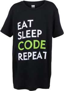 Youth Eat Sleep Code Tee