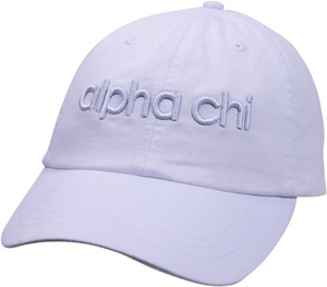 3D Embroidery Hat - alpha chi