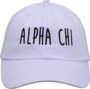 Jagged Font Hat - alpha chi