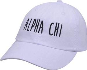 Jagged Font Hat - alpha chi