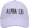 Jagged Font Hat - alpha chi image 2