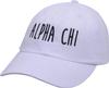 Jagged Font Hat - alpha chi image 1