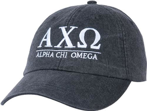 Greek Letters Hat - alpha chi