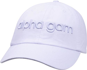 3D Embroidery Hat - alpha gam