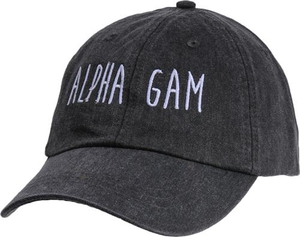 Jagged Font Hat - alpha gam