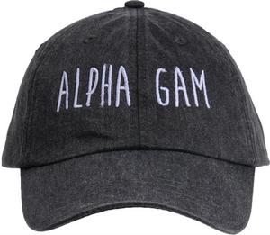 Jagged Font Hat - alpha gam