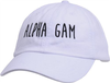 Jagged Font Hat - alpha gam image 1