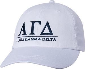 Greek Letters Hat - alpha gam