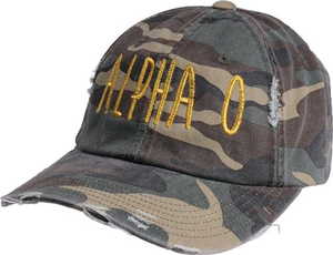 Jagged Font Hat - alpha o