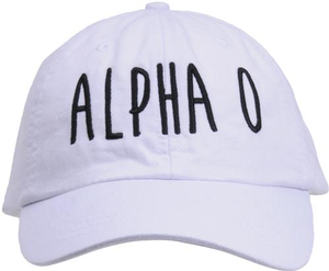 Jagged Font Hat - alpha o