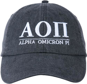 Greek Letters Hat - alpha o