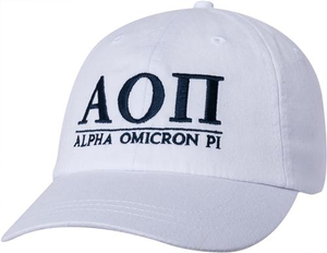 Greek Letters Hat - alpha o